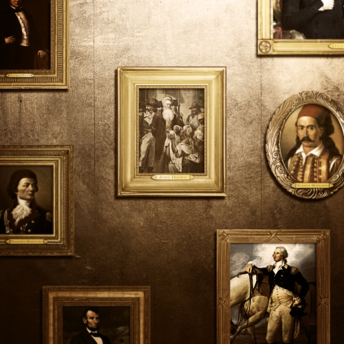 Portrait's on Capt. Nemo's cabin wall