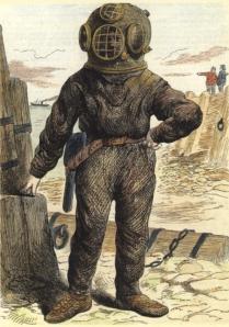 Deep Sea Diver circa 1870