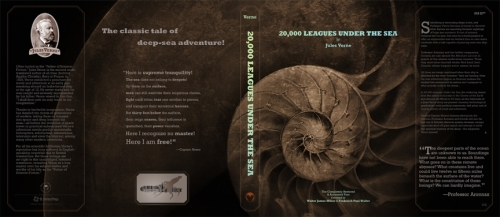 20000 Leagues Under the Sea - dust jacket design #2