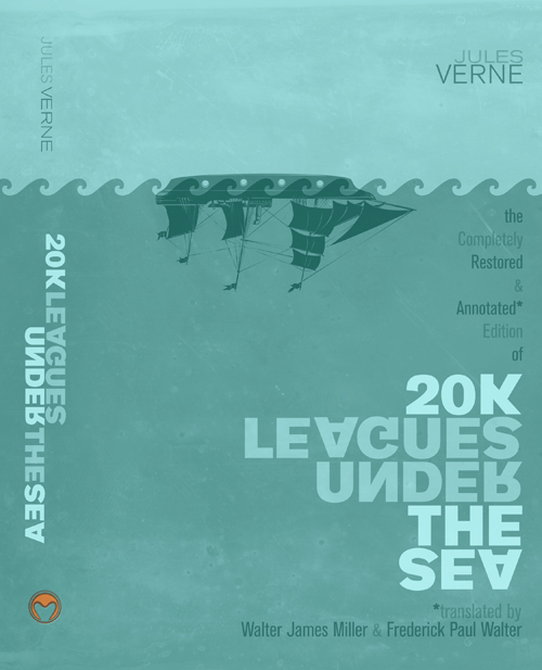 20,000 Leagues Under the Sea - winning cover design