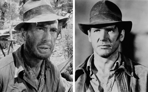 Humphrey Bogart vs. Harrison Ford